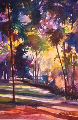 Painting - Oahu Palms by Therese Fowler-Bailey