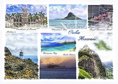 Photograph - Oahu Postcard 1 by Mo T