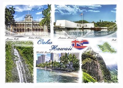 Photograph - Oahu Postcard 2 by Mo T