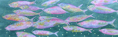Salt Air Painting - Oahu Tiny Bubbles by Rhonda Leonard