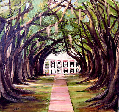 Oak Alley Plantation Art Print