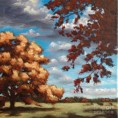 Painting - Oak At Fall by Ric Nagualero