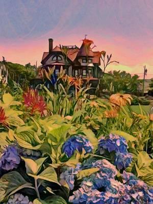 Painting - Oak Bluffs Victorian - Vertical by Lyn Voytershark