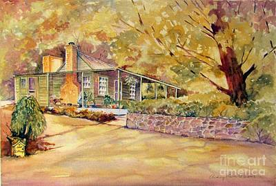 Beechworth Painting - Oak Cottage Beechworth Victoria Australia by Audrey Russill