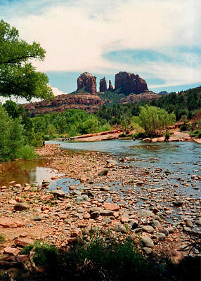 Photograph - Oak Creek And Cathedral Rock 1993 by Connie Fox