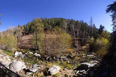 Oak Creek Photograph - Oak Creek Canyon Panorama November 11 2013 by Brian Lockett