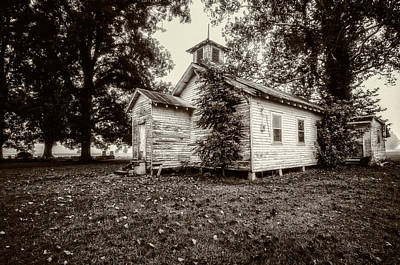 Photograph - Oak Grove Church On Turnbull Island by Andy Crawford