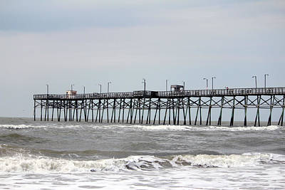 Oak Island Beach Pier Art Print