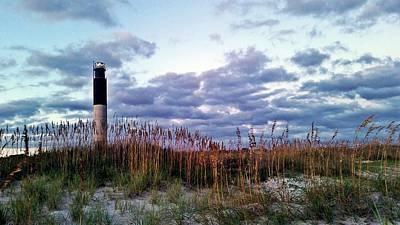 Oak Island Lighthouse Sunset Original