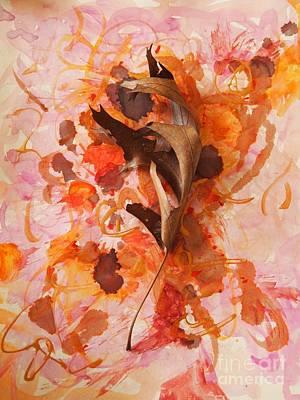 Dried Mixed Media - Oak Leaf Beauty by Nancy Kane Chapman