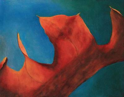 Photograph - Oak Leaf Oil Painting by Michael Saunders