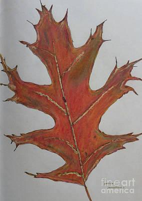 Drawing - Oak Leaf by Patricia Januszkiewicz