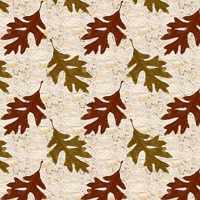 Fall Foliage Mixed Media - Oak Leaf Pattern by Christina Rollo