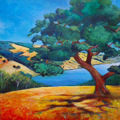 Northern California Painting - Oak Overlook by Stephanie  Maclean