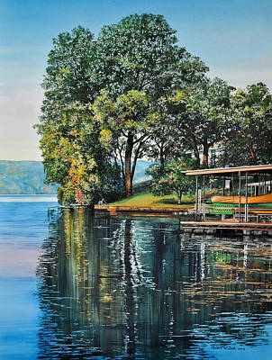 Oak Point Art Print