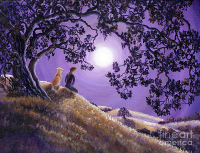Laura Iverson Royalty-Free and Rights-Managed Images - Oak Tree Meditation by Laura Iverson
