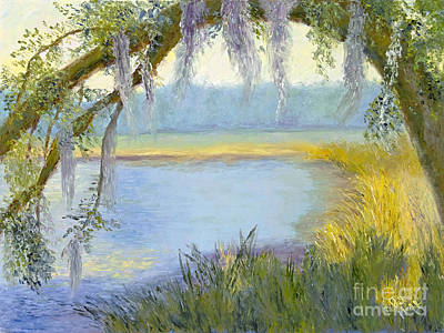Ashley River Painting - Oak Tree On The Ashley by Patricia Huff