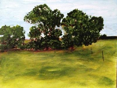 Painting - Oak Trees by Andrea Friedell