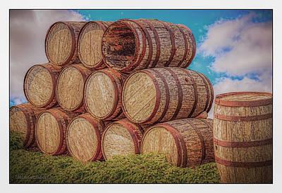 Metal Photograph - Oak Wine Barrels by LeeAnn McLaneGoetz McLaneGoetzStudioLLCcom