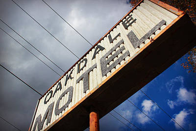 Photograph - Oakdale Motel Sign by Kelly Hazel