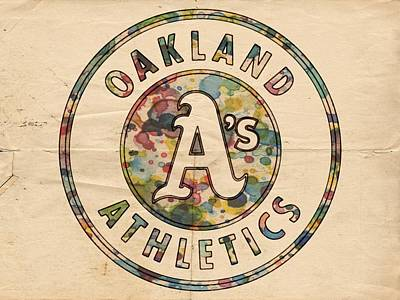 Painting - Oakland Athletics Poster Vintage by Florian Rodarte