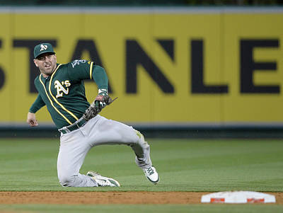 Photograph - Oakland Athletics V Los Angeles Angels by Harry How