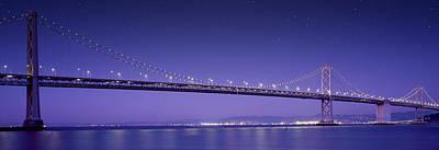 Mixed Media Royalty Free Images - Oakland Bay Bridge Royalty-Free Image by Aged Pixel