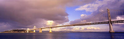 Grey Clouds Photograph - Oakland Bay Bridge San Francisco by Panoramic Images