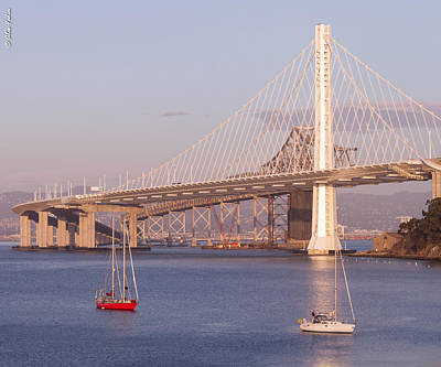Oakland Bridge Art Print