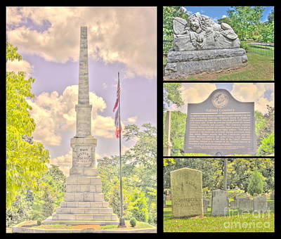 Oakland Cemetery Collage Art Print