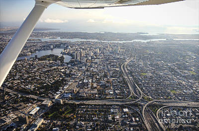 Aerial Photograph - Oakland From Above by Hugh Stickney