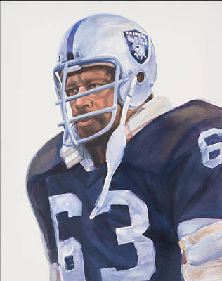 Oakland Raiders Painting - Oakland Raider Gene Upshaw by Angie Villegas