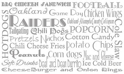 Digital Art - Oakland Raiders Game Day Food 1 by Andee Design