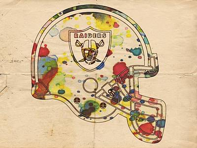 Painting - Oakland Raiders Helmet Art by Florian Rodarte