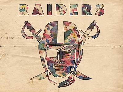 Painting - Oakland Raiders Logo Art by Florian Rodarte