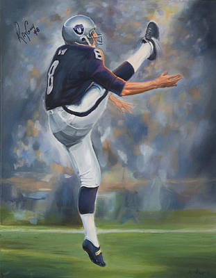 Oakland Raiders Ray Guy Original by Angie Villegas