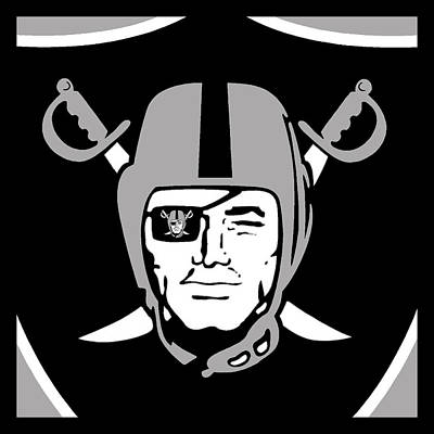 Oakland Raiders Art Print by Tony Rubino