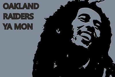 Oakland Raiders Ya Mon Art Print by Joe Hamilton