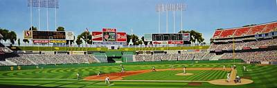 Baseball Parks Painting - Oakland by Thomas  Kolendra