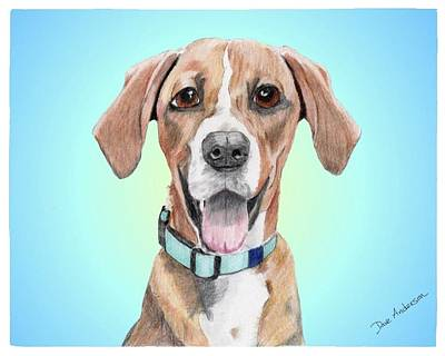 Dog Rescue Digital Art - Oakley - A Former Shelter Sweetie by Dave Anderson