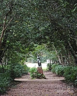 Photograph - Oakley Plantation Louisiana Path Statuary by Lizi Beard-Ward