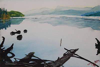 Oakridge Reservoir #1 Art Print by Dawna Morton
