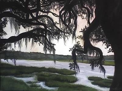 Painting - Oaks Grabbing Marsh by Alexandria Weaselwise Busen