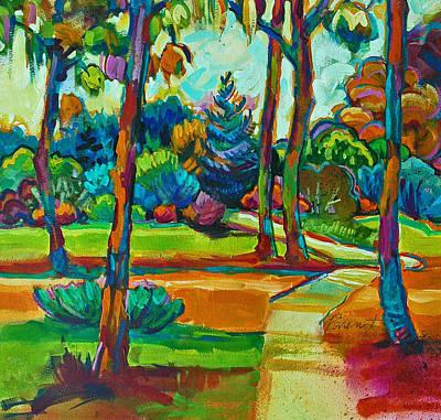 Oaks Landscape Detail Art Print