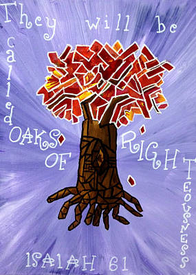 Painting - Oaks Of Righteousness by Amber Joy Eifler