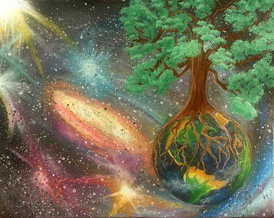 Out Of This World Painting - Oaks Of Righteousness by Rachel Donnelly