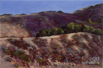 Oaks On A Hillside Art Print