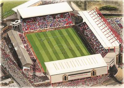 Sports Paintings - Oakwell - Barnsley by Kevin Fletcher