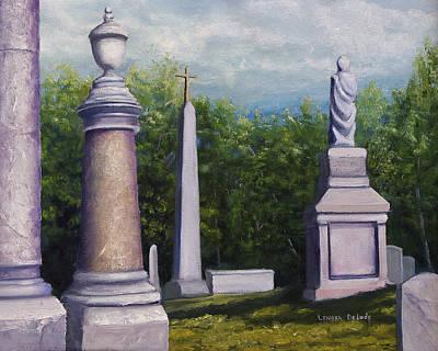Painting - Oakwood Cemetery Jefferson Texas by Lenora  De Lude