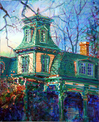 Haunted House Painting - Oakwood House by Dan Nelson